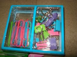 LOT OF 10 STAPLES PAPER CLIPS AND BINDER CLIPS COMBO 65 PCS
