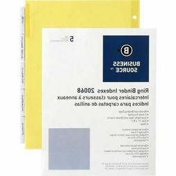 Business Source Ring Binder Index Divider 20068