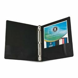 Business Source Round Ring Presentation Binder - Letter - 8.