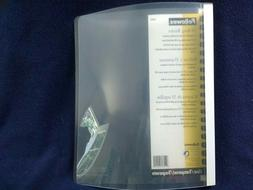 """Set of 12 Fellowes 52490 Plastic 12"""" Binder Clear, 1/2"""" ring"""