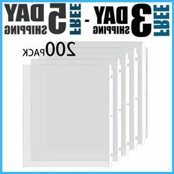 """Sheet Protectors 8.5 X 11"""" Clear Page For 3 Ring Binder Plas"""
