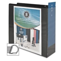 Business Source 4-Inch Slant Ring View Binder - Black