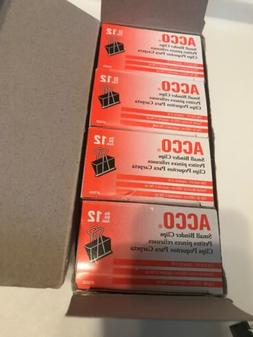 """ACCO Small Binder Clips #72020 3/4"""" Size *12 boxes 144 Clips"""